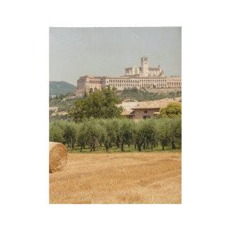 Heurolle und -kloster holzposter