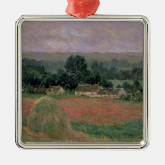 Heuschober Claude Monets | bei Giverny, 1886 Silbernes Ornament