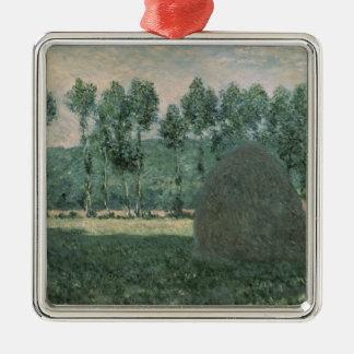 Heuschober Claude Monets | nähern sich Giverny, Silbernes Ornament