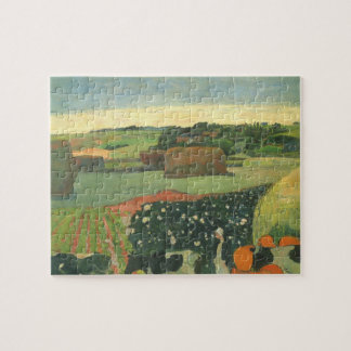 Heuschober in Bretagne durch Paul Gauguin, Vintage Puzzle