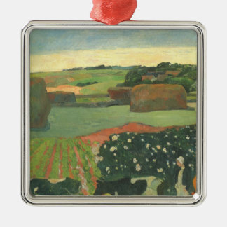 Heuschober in Bretagne durch Paul Gauguin, Vintage Silbernes Ornament