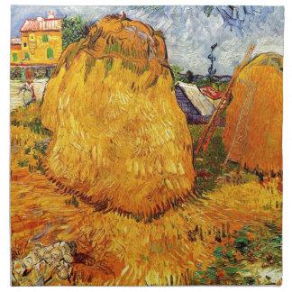 Heuschober in Provence durch Van Gogh. Stoffserviette