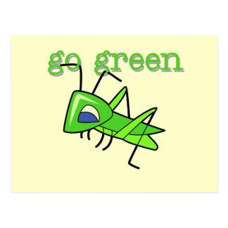 Heuschrecke gehen T - Shirts und Geschenke grüne Postkarte