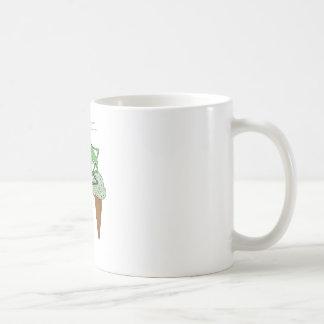 Heuschrecken-Reitfahrrad mit HeuschreckenEiscreme Kaffeetasse