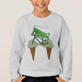 Heuschrecken-Reitfahrrad mit HeuschreckenEiscreme Sweatshirt