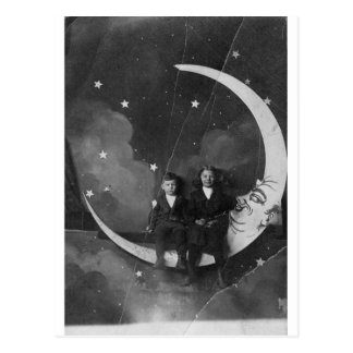 Heute Abend heute Abend sind wir über dem Mond! Postkarte