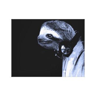Heute Abend rettete ein Sloth mein Leben Leinwanddruck
