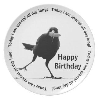Heute bin ich - alles Gute zum Geburtstag speziell Teller