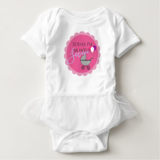 Heute bin ich Geburtstags-Party-Feiertutu-Bodysuit Baby Strampler