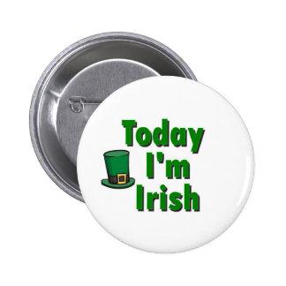 Heute bin ich irisch runder button 5,1 cm