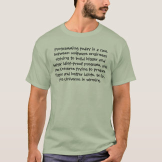 Heute programmieren ist ein Rennen zwischen T-Shirt