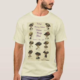 Heutige Frauen tragen viele Hüte T-Shirt