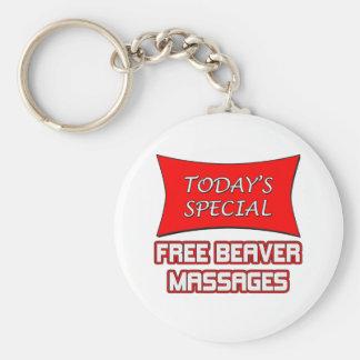Heutige spezielle freie Biber-Massagen Schlüsselanhänger
