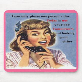 Heutiger Tag ist nicht Ihr TagesRetro Bild Mousepad