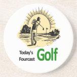 """Heutiges Fourcast """"Golf """" Getränke Untersetzer"""