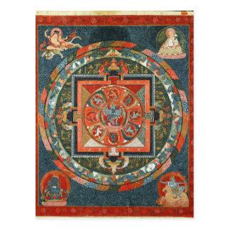 Hevajra tibetanische buddhistische postkarte