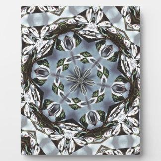 Hexagon des Dschungel-Blätter und der tropischen Fotoplatte