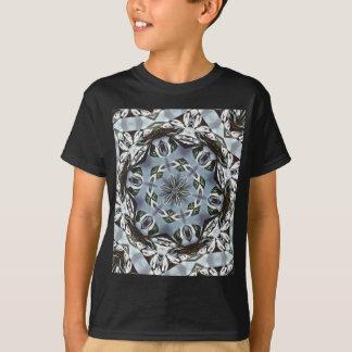 Hexagon des Dschungel-Blätter und der tropischen T-Shirt