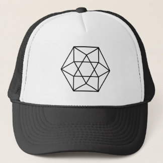 Hexagon-Edelstein 4 Truckerkappe