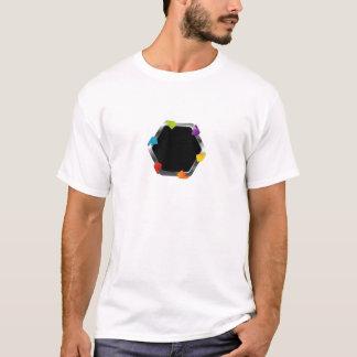 Hexagon mit bunten Pfeilen T-Shirt