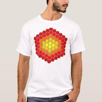 Hexagon-/Würfel-Muster-T - Shirt
