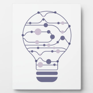 Hexahedrons innerhalb der Ideen-Birne Fotoplatte