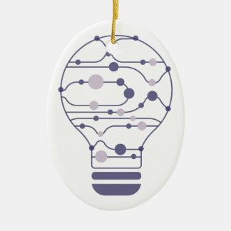 Hexahedrons innerhalb der Ideen-Birne Keramik Ornament