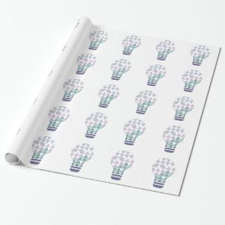 Hexahedrons innerhalb Ideen-Birnen-der abstrakten Geschenkpapier