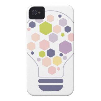 Hexahedrons innerhalb Ideen-Birnen-der abstrakten iPhone 4 Hülle