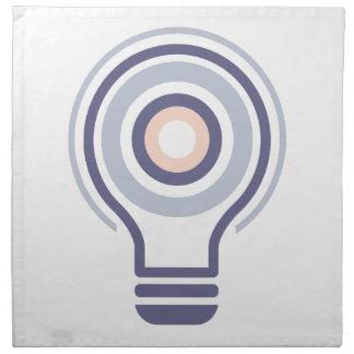 Hexahedrons innerhalb Ideen-Birnen-der abstrakten Serviette