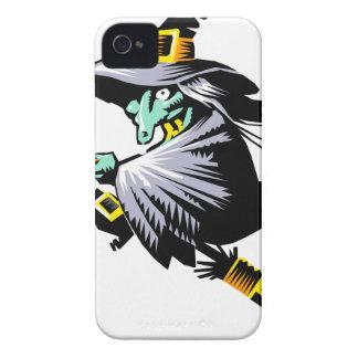 Hexe auf Broomstick iPhone 4 Case-Mate Hülle