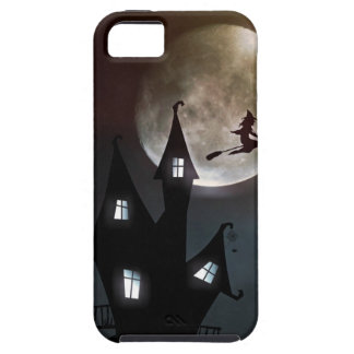 Hexe auf dem Besen, der über Ihr Haus fliegt iPhone 5 Etui