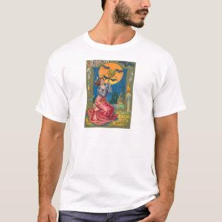 Hexe-Besen-Schläger-Vollmond-Kerze T-Shirt