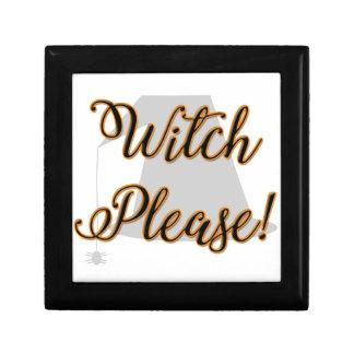 Hexe bitte lustiges Halloween mit Hut Erinnerungskiste