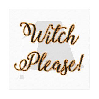 Hexe bitte lustiges Halloween mit Hut Leinwanddruck