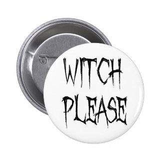 Hexe bitte runder button 5,1 cm