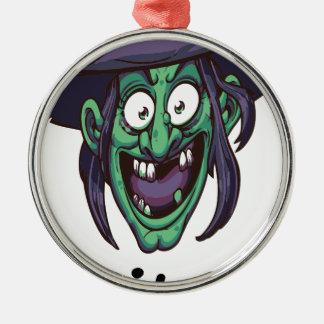 Hexe bitte silbernes ornament