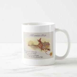 Hexe-Fliegen-Besen-Vollmond-Jack O Laterne Kaffeetasse