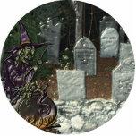Hexe-Friedhofs-Foto-Skulptur