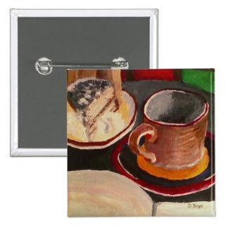 Hexe-Gebräu: Tiramisu, Kaffee u. Knopf auch Quadratischer Button 5,1 Cm