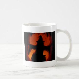 Hexe geschnitzter Kürbis Kaffeetasse