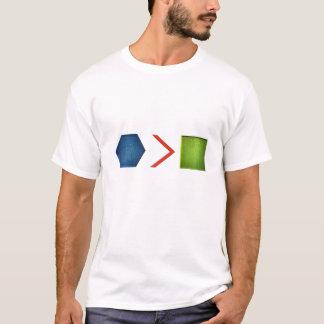 Hexe ist größer als Quadrat T-Shirt