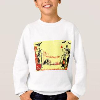 Hexe-Jack O Laternen-Eulen-Geist-Spuk Haus Sweatshirt