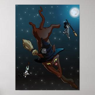 Hexe-Katzen-Lehrlinge Poster