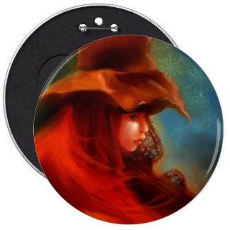 Hexe-Knopf Runder Button 15,3 Cm