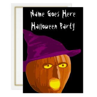 Hexe-Kürbis-Halloween-Party-Einladung Karte