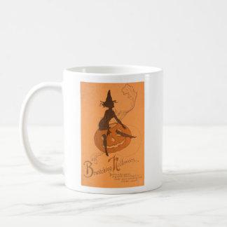 Hexe-Kürbislaterne-Kürbis Kaffeetasse