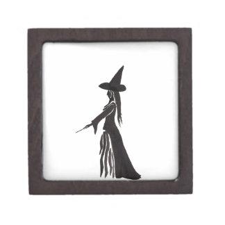 Hexe mit einem magischen Stab Schachtel