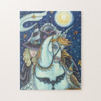 HEXE SCHLÄFRIGEN HOHLEN kopflosen Horsewoman Puzzle