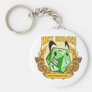 Hexe-Spiel-glückliches D20 Logo Keychain Schlüsselanhänger